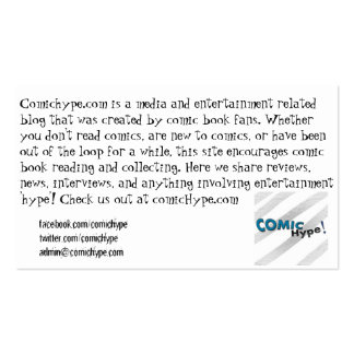 Spread the Comic Love Double-Sided Standard Business Cards (Pack Of 100)