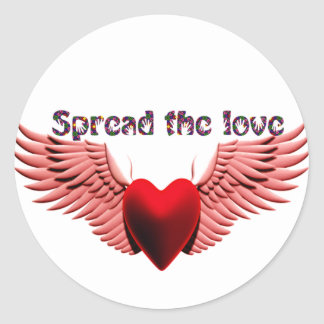 Spread the Love (2)_ Classic Round Sticker