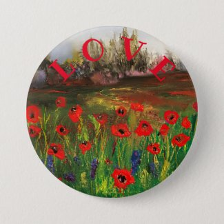 Spread The Love, Beautiful Love of Poppies Button