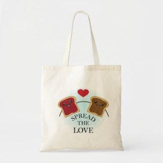 SPREAD THE LOVE BUDGET TOTE BAG