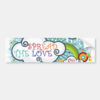 Spread the love bumper sticker