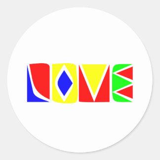 Spread The LOVE Classic Round Sticker
