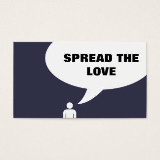 spread the love comic bubble referral business card