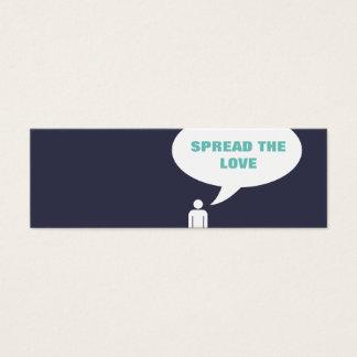 spread the love comic bubble referral mini business card