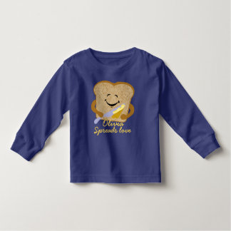 Spread the Love Custom Toast and Butter Toddler T-shirt