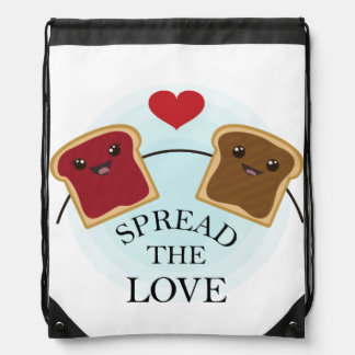 SPREAD THE LOVE DRAWSTRING BACKPACK