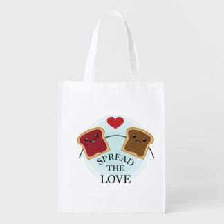 SPREAD THE LOVE GROCERY BAG