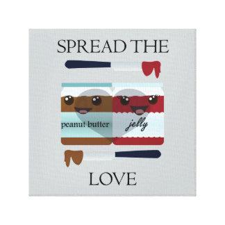 SPREAD THE LOVE JAR CANVAS PRINT