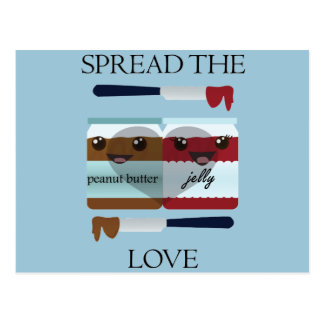 spread the love jar postcard