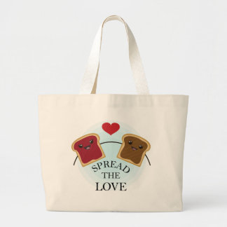 SPREAD THE LOVE LARGE TOTE BAG