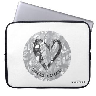 'Spread the Love' Neoprene Laptop Sleeve 15 inch
