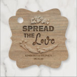 "Spread The Love Rustic Wedding Favor Tags<br><div class=""desc"">Rustic country wedding tags 'Spread the Love'</div>"