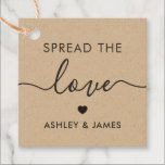 """Spread the Love Tag, Wedding Gift Tag, Kraft Favor Tags<br><div class=""""desc"""">These are the perfect little gift tags. You can customize front and back text,  as well as change the colors.</div>"""