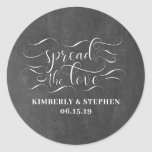 "Spread The Love Wedding Favor Classic Round Sticker<br><div class=""desc"">Spread The Love Wedding Stickers</div>"