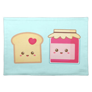 Spread the love with Cute Toast and Jam Cloth Placemat