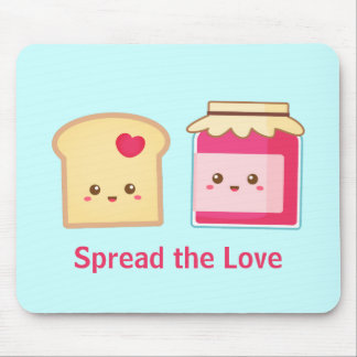 Spread the love with Cute Toast and Jam Mouse Pad