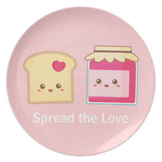 Spread the love with Cute Toast and Jam Dinner Plate