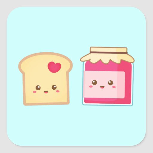 Spread the love with Cute Toast and Jam Sticker