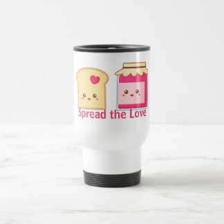 Spread the love with Cute Toast and Jam Travel Mug