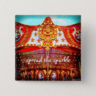 """""""Spread the sparkle"""" carousel gold face photo Button"""