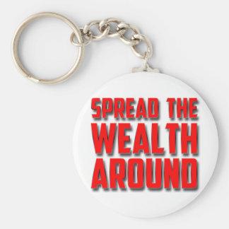 Spread The Wealth Around Basic Round Button Keychain