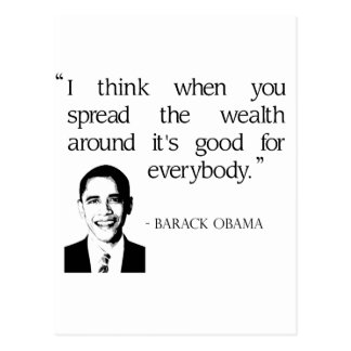 Spread the wealth around postcard
