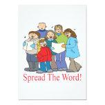 "Spread The Word 5"" X 7"" Invitation Card"