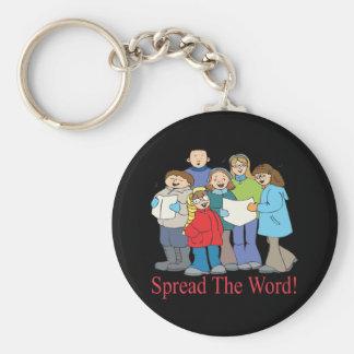 Spread The Word Basic Round Button Keychain