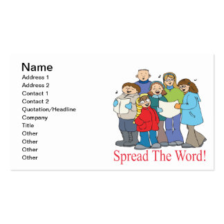Spread The Word Double-Sided Standard Business Cards (Pack Of 100)