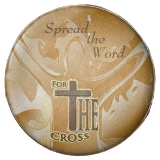 Spread the Word, For the Cross Religious Message Chocolate Dipped Oreo