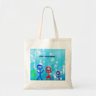 Spread the word to help prevent child abuse tote bag