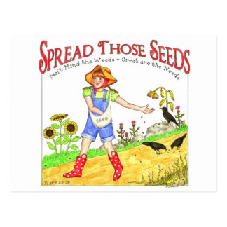 Spread Those Seeds Inspirational Postcard
