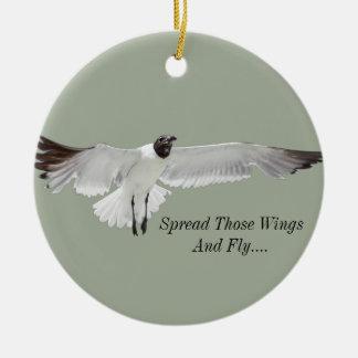 Spread Those Wings Ceramic Ornament