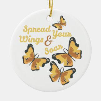 Spread Wings Ceramic Ornament