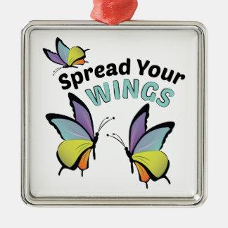 Spread Wings Metal Ornament