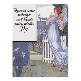 Spread your Fairy Wings Postcard