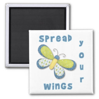 Spread your wings 2 inch square magnet