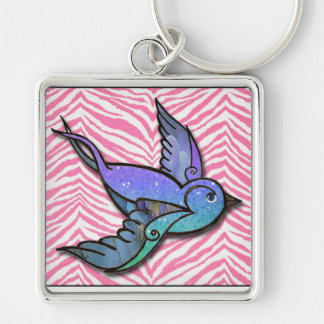 Spread Your Wings and Fly,  swallow keychain