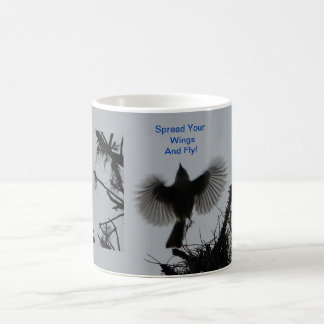 Spread Your Wings And Fly, Tufted Titmouse Coffee Mug