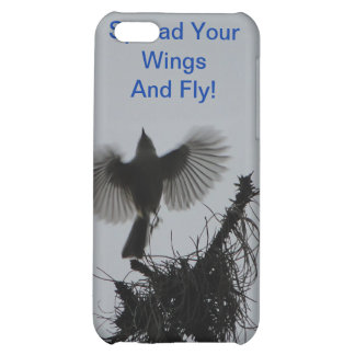 Spread Your Wings And Fly, Tufted Titmouse Case For iPhone 5C