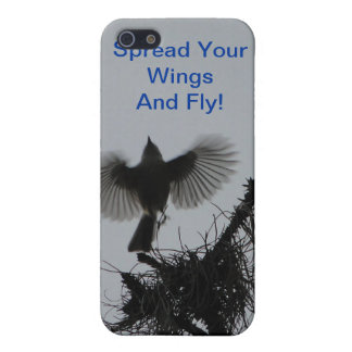 Spread Your Wings And Fly, Tufted Titmouse Case For iPhone 5