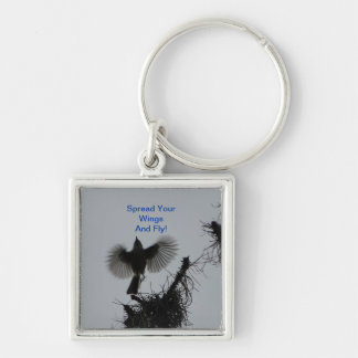 Spread Your Wings And Fly, Tufted Titmouse Keychain