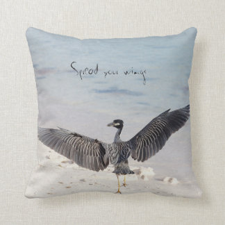 Spread your wings bird pillow