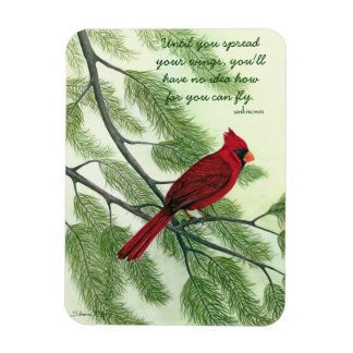 Spread Your Wings - Bright Red Cardinal Magnet