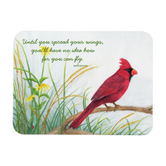 Spread Your Wings - Cardinal Magnet
