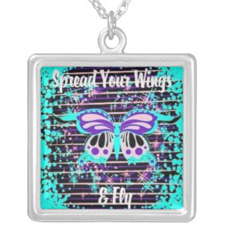 Spread Your Wings Fly Butterfly Necklace