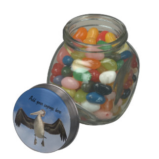 Spread your wings_ glass candy jar