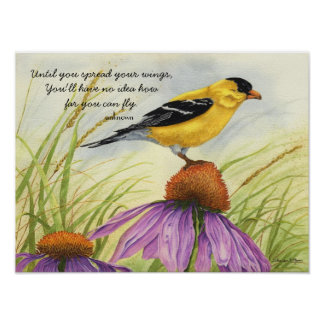 Spread Your Wings - Goldfinch Poster