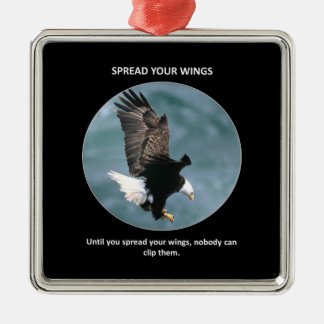 spread-your-wings metal ornament