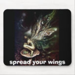 spread your wings mouse pad
